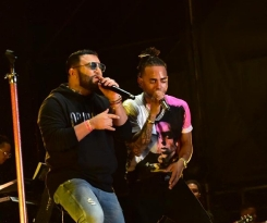 Alex Sensation junto a Ozuna en el Electric Paradise 2018